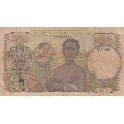 AOF - Pick 40_2b - 100 francs - Etat : B