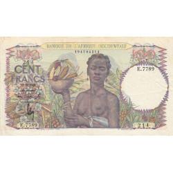 AOF - Pick 40_2c - 100 francs - 29/06/1949 - Etat : TTB