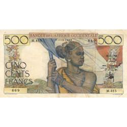 AOF - Pick 41_2b - 500 francs - Etat : TTB+