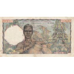 AOF - Pick 42_2i - 1'000 francs - 21/11/1953 - Etat : TB