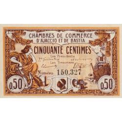 Ajaccio / Bastia - Pirot 3-1 - 50 centimes - 06/08/1915 - Etat : SPL