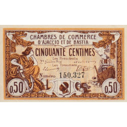Ajaccio / Bastia - Pirot 3-1b - 50 centimes - 1915 - Etat : SPL