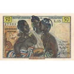 AOF - Pick 45 - 50 francs - 1956 - Etat : SUP