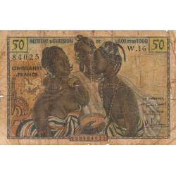 AOF - Pick 45 - 50 francs - 1956 - Etat : AB