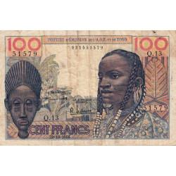 AOF - Pick 46_1 - 100 francs - Etat : TB-
