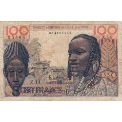 AOF - Pick 46_1 - 100 francs - Etat : B+
