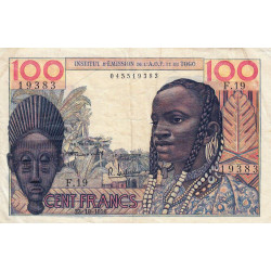 AOF - Pick 46_1 - 100 francs - Etat : TB+