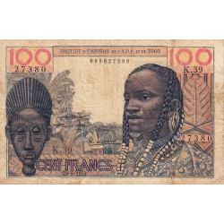 AOF - Pick 46_2 - 100 francs - 20/05/1957 - Etat : B+