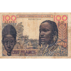 AOF - Pick 46_2 - 100 francs - Etat : B+