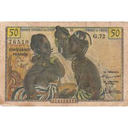 Etats Afrique Ouest - Pick 1 - 50 francs - 1958 - Etat : B+