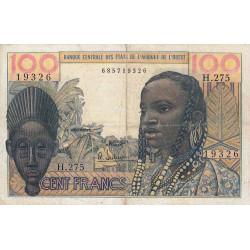 Etats Afrique Ouest - Pick 2b - 100 francs - 1966 - Etat : TB-