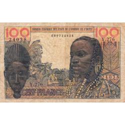 Etats Afrique Ouest - Pick 2b - 100 francs - 1966 - Etat : B