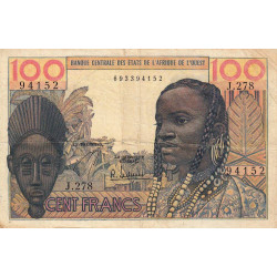 Etats Afrique Ouest - Pick 2b - 100 francs - 1966 - Etat : TB