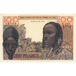 Etats Afrique Ouest - Pick 2b - 100 francs - 1966 - Etat : SUP+