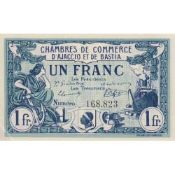 Ajaccio / Bastia - Pirot 3-2 - 1 franc - 06/08/1915 - Etat : SPL