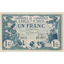 Ajaccio / Bastia - Pirot 3-4a - 1 franc - 1915 - Etat : SPL