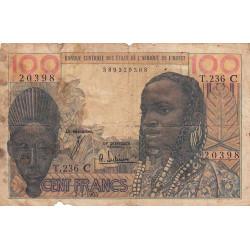 Burkina-Faso - Pick 301Cf - 100 francs - 1965 - Etat : AB