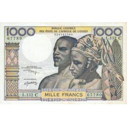 Burkina-Faso - Pick 303Cl - 1'000 francs - Série L.132 - 1975 - Etat : TTB+
