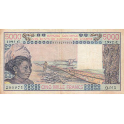 Burkina-Faso - Pick 308Cp - 5'000 francs - 1992 - Etat : TB+