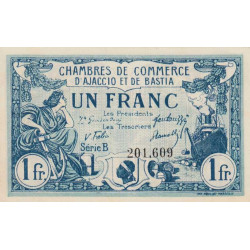 Ajaccio / Bastia - Pirot 3-7 - 1 franc - Série B - 08/01/1918 - Etat : SPL