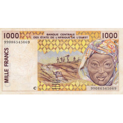 Burkina-Faso - Pick 311Cj - 1'000 francs - 1999 - Etat : TTB