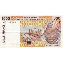 Burkina-Faso - Pick 311Cm - 1'000 francs - 2002 - Etat : TTB+