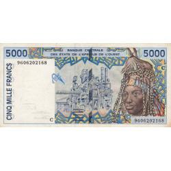 Burkina-Faso - Pick 313Ce - 5'000 francs - 1996 - Etat : TB+
