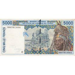 Burkina-Faso - Pick 313Ci - 5'000 francs - 1999 - Etat : TTB