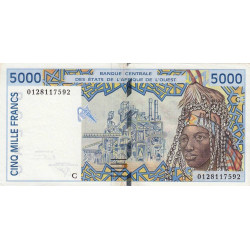 Burkina-Faso - Pick 313Ck - 5'000 francs - 2001 - Etat : TTB+