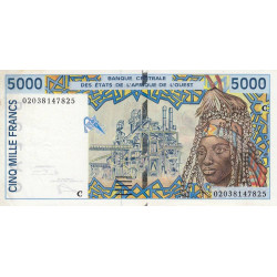 Burkina-Faso - Pick 313Cl - 5'000 francs - 2002 - Etat : SUP
