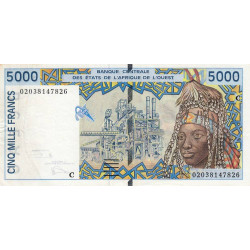 Burkina-Faso - Pick 313Cl - 5'000 francs - 2002 - Etat : TTB+