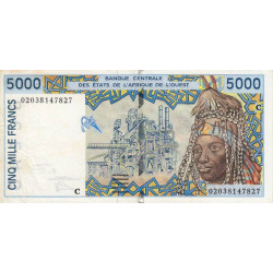 Burkina-Faso - Pick 313Cl - 5'000 francs - 2002 - Etat : TTB-