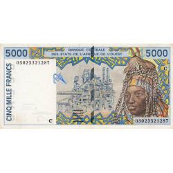 Burkina-Faso - Pick 313Cm - 5'000 francs - 2003 - Etat : SUP