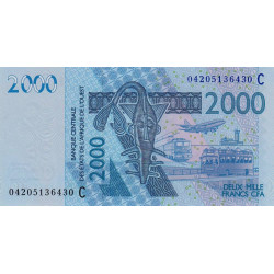 Burkina-Faso - Pick 316Cb - 2'000 francs - 2004 - Etat : NEUF