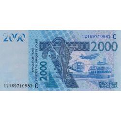 Burkina-Faso - Pick 316Ci - 2'000 francs - 2012 - Etat : NEUF