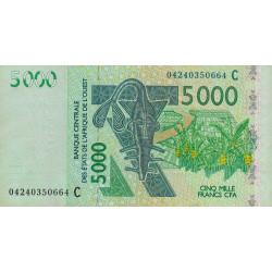 Burkina-Faso - Pick 317Cb - 5'000 francs - 2004 - Etat : SUP