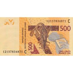 Burkina-Faso - Pick 319Ca - 500 francs - 2012 - Etat : NEUF