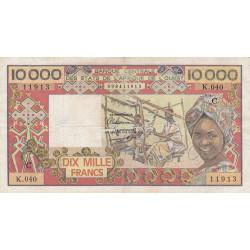 Burkina-Faso - Pick 309Cg - 10'000 francs - Série K.040 - 1989 - Etat : TB+