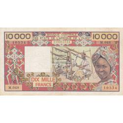 Burkina-Faso - Pick 309Ch - 10'000 francs - Série D.048 - 1991 - Etat : TB+
