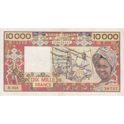 Burkina-Faso - Pick 309Ch - 10'000 francs - Série R.048 - 1991 - Etat : TB+