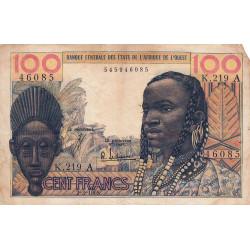 Côte d'Ivoire - Pick 101Ae - 100 francs - Série K.219 - 02/03/1965 - Etat : B+