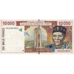 Bénin - Pick 214Bg - 10'000 francs - 1998 - Etat : TB