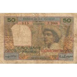 Comores - Pick 2b - 50 francs - 1963 - Etat : B+