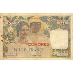 Comores - Pick 5b - 1'000 francs - 1963 - Etat : TB-