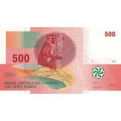 Comores - Pick 15 - 500 francs - 2006 - Etat : NEUF