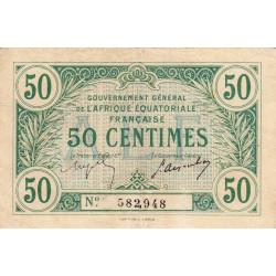 AEF - Pick 1a_3 - 50 centimes - 1917 - Etat : TTB