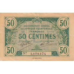 AEF - Pick 1a_1 - 50 centimes - 1917 - Etat : TTB+