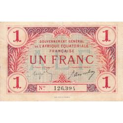 AEF - Pick 2a_1 - 1 franc - Etat : TTB