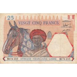 AEF - Pick 7 - 25 francs - 15/04/1942 - Série B - Etat : TB+
