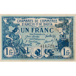 Ajaccio / Bastia - Pirot 3-9b - 1 franc - 1920 - Etat : SPL